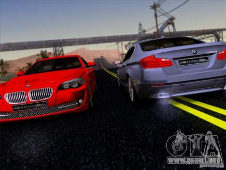BMW 550i 2012 para vista lateral GTA San Andreas