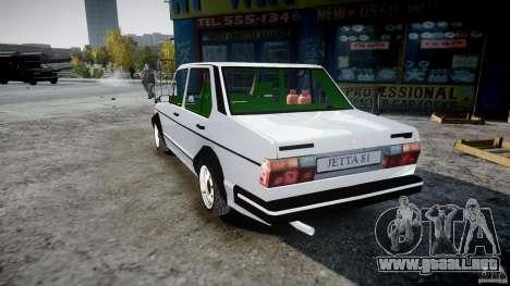 Volkswagen Jetta 1981 para GTA 4 Vista posterior izquierda