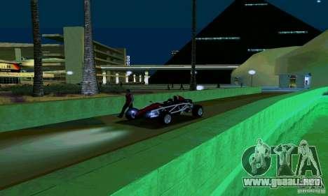 Ariel Atom para GTA San Andreas vista hacia atrás