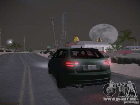 Audi RS3 2011 para vista inferior GTA San Andreas