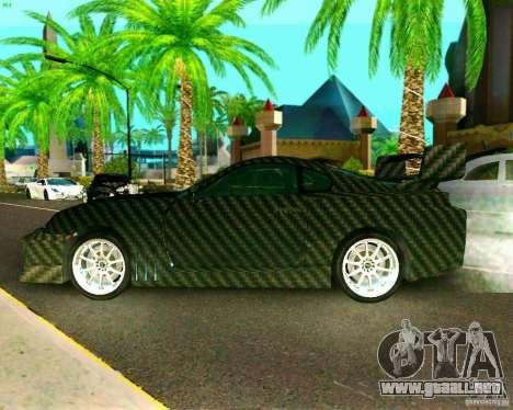 Toyota Supra Carbon para GTA San Andreas vista posterior izquierda