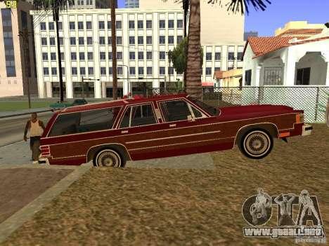 Mercury Grand Marquis Colony Park para GTA San Andreas vista posterior izquierda