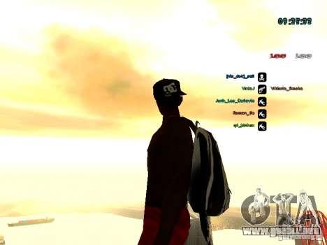 Mochila-paracaídas para GTA: SA para GTA San Andreas quinta pantalla