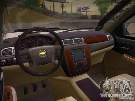 Chevrolet Silverado para visión interna GTA San Andreas