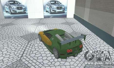 Bugatti Veyron 2005 para GTA San Andreas left