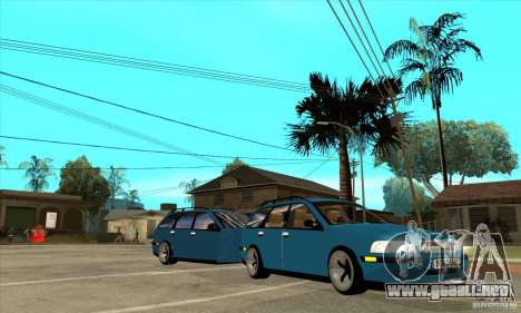 Volvo V40 Gespann para GTA San Andreas vista hacia atrás