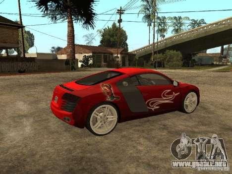 Audi R8 para GTA San Andreas interior