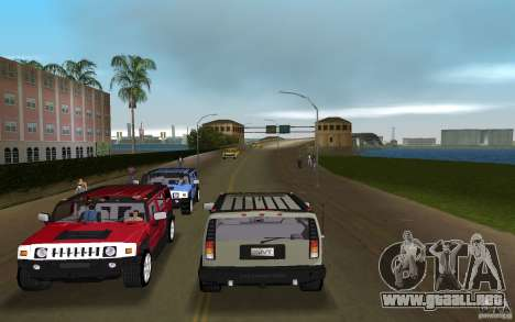 AMG H2 HUMMER para GTA Vice City vista lateral izquierdo