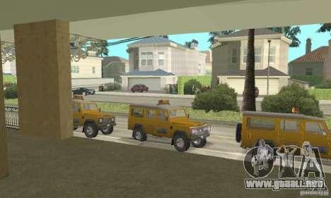 Land Rover Defender 110SW Taxi para la visión correcta GTA San Andreas