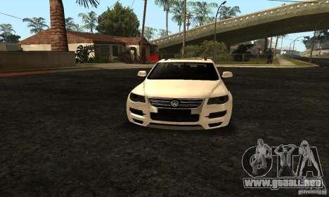 Volkswagen Touareg Dag Style para GTA San Andreas vista hacia atrás