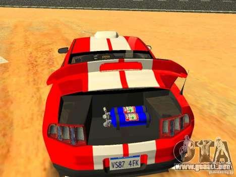 Ford Shelby GT500 para el motor de GTA San Andreas