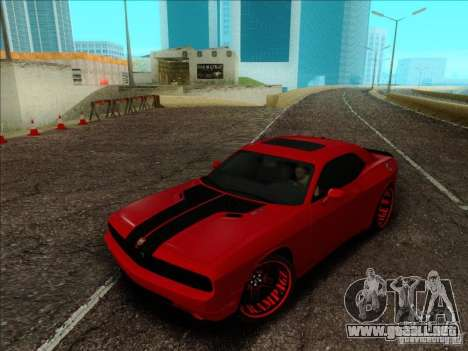 Dodge Quinton Rampage Jackson Challenger SRT8 v1 para visión interna GTA San Andreas