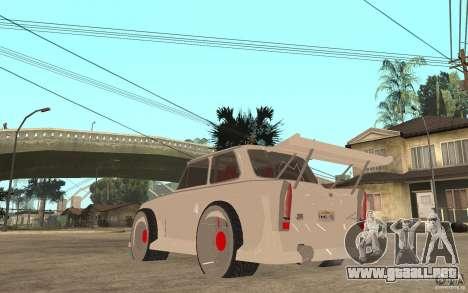 Trabant 601 Hardcore Tuning para GTA San Andreas vista posterior izquierda