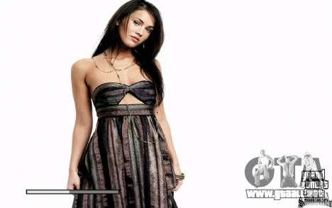 Las pantallas de arranque (Megan Fox) HD para GTA San Andreas segunda pantalla