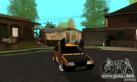 VAZ 2109 luz Tuning para GTA San Andreas vista posterior izquierda