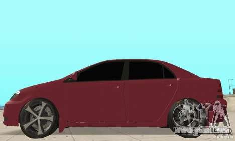 Toyota Corolla Tuning para GTA San Andreas vista posterior izquierda