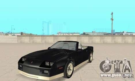 Chevrolet Camaro RS 1991 Convertible para GTA San Andreas