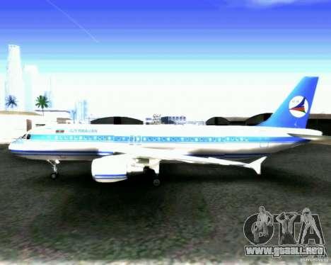 Airbus A-320 Azerbaijan Airlines para visión interna GTA San Andreas