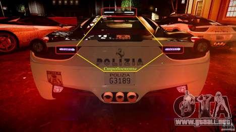 Ferrari 458 Italia - Brazilian Police [ELS] para GTA 4 ruedas