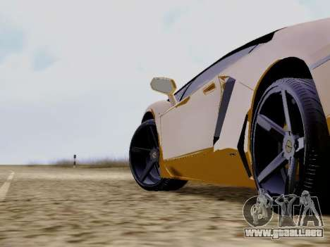 Lamborghini Aventador LP700-4 Vossen para la visión correcta GTA San Andreas