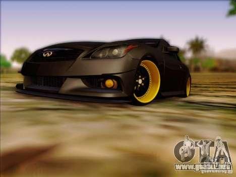 Infiniti G37 HellaFlush para GTA San Andreas left