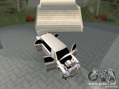 Chrysler 300C Limo para visión interna GTA San Andreas