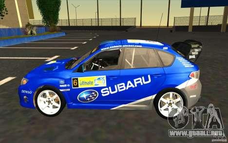 Nuevos vinilos para Subaru Impreza WRX STi para el motor de GTA San Andreas