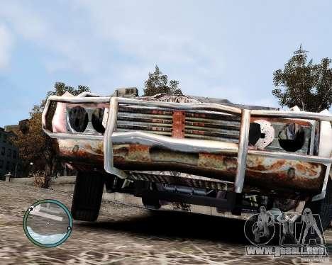Flatout Shaker IV para GTA 4 vista hacia atrás