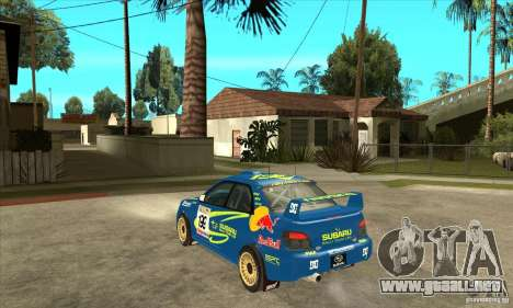 Subaru Impreza STi WRC wht2 para GTA San Andreas vista hacia atrás