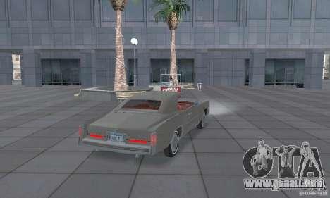 Cadillac Eldorado Convertible 1976 para GTA San Andreas vista posterior izquierda