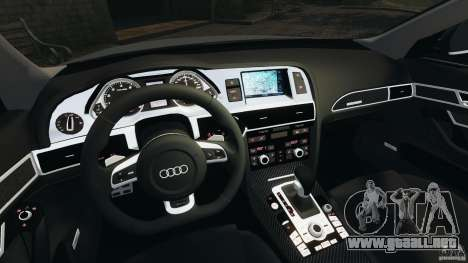 Audi RS6 2010 v1.1 para GTA 4 vista hacia atrás