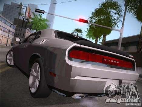 Dodge Challenger SRT8 v1.0 para GTA San Andreas vista posterior izquierda