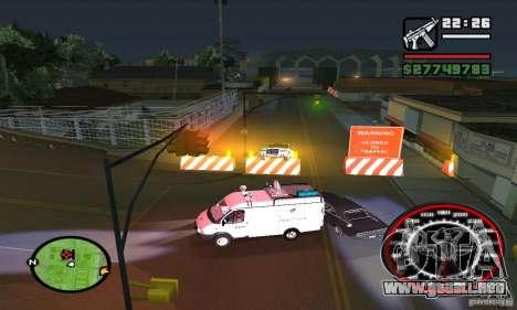 Base GROOVE Street para GTA San Andreas quinta pantalla