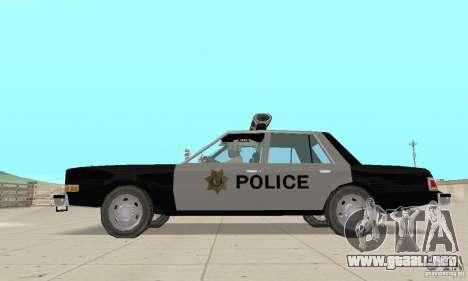 Dodge Diplomat 1985 Police para la visión correcta GTA San Andreas