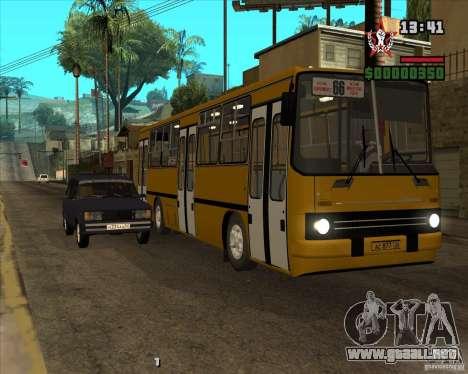 Ikarus 260.04 para la vista superior GTA San Andreas
