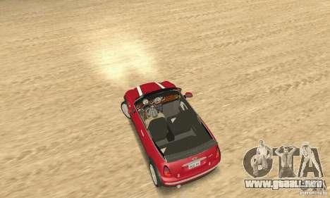 Mini Cooper Convertible para GTA San Andreas vista posterior izquierda