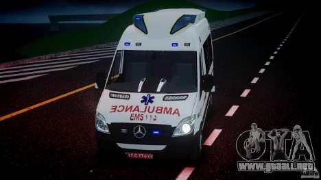 Mercedes-Benz Sprinter Iranian Ambulance [ELS] para GTA 4 vista superior
