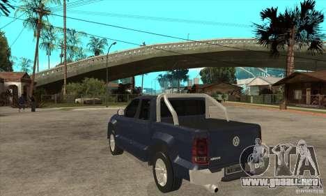 Volkswagen Amarok 2010 para GTA San Andreas vista posterior izquierda