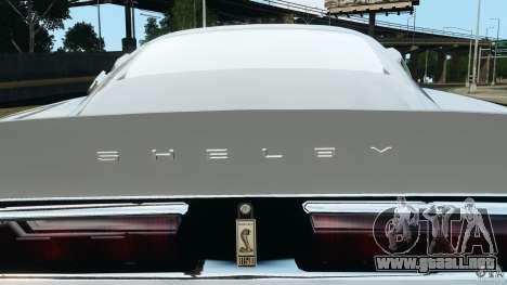 Shelby GT 500 Eleanor para GTA 4 interior