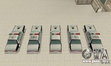 Dodge Diplomat 1985 Police para visión interna GTA San Andreas