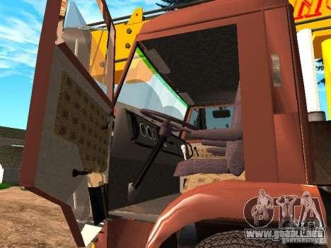 KAMAZ 6520 KS3577-3 k Ivanovets para visión interna GTA San Andreas