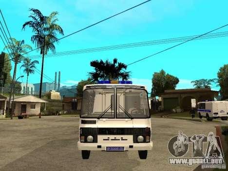 PAZ 3205 policía para la visión correcta GTA San Andreas