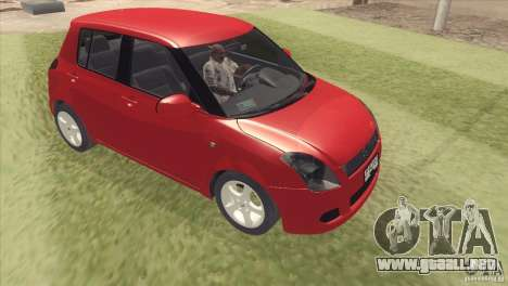 Suzuki Swift version Chilena para GTA San Andreas vista posterior izquierda