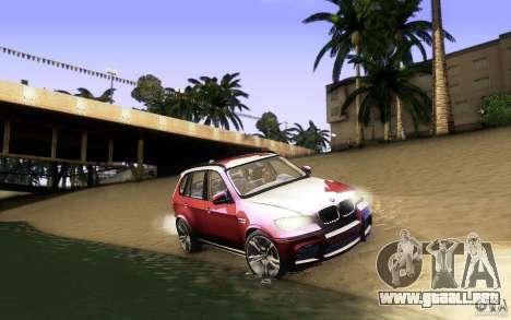 BMW X5M  2011 para vista inferior GTA San Andreas