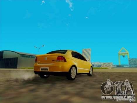 Volkswagen Voyage Comfortline 1.6 2009 para GTA San Andreas vista posterior izquierda
