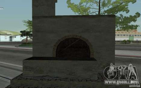 Estufa para GTA San Andreas vista posterior izquierda