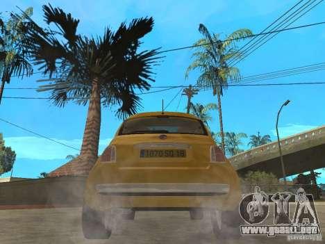 Fiat 500 C para GTA San Andreas vista posterior izquierda