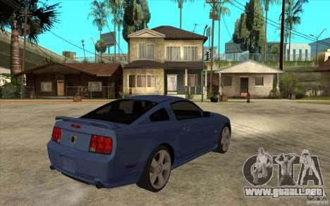 Ford Mustang 2005 para la visión correcta GTA San Andreas