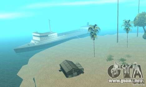 Lost Island para GTA San Andreas segunda pantalla