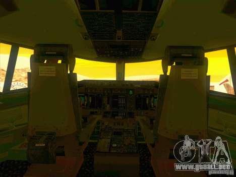 Boeing E-767 para vista inferior GTA San Andreas